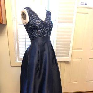 Trixxi taffeta embellished prom dress